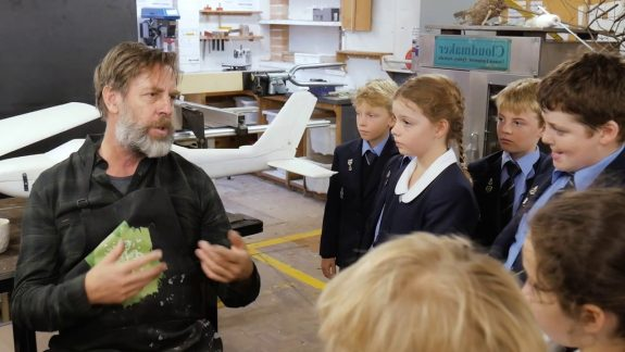 Renowned Australian Artist Takes Up Residence to Inspire Students