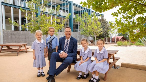 Redlands Principal Stephen Webber's First Day at School